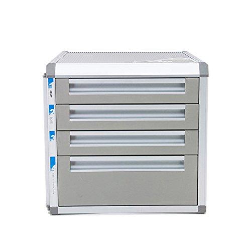 Desktop-CAB-Datei, 4 Layer Schublade Schreibtisch Aufbewahrungsbox, Desktop Organizer Home Office Archiv Aktenschrank, Dokumente, Papiere, Dateien, Stifte, Mails, Schere