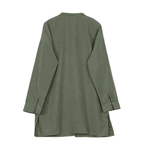 Zolimx Mode Frauen Dünne Jacke Windbreaker Outwear Wolljacke Mantel - 5