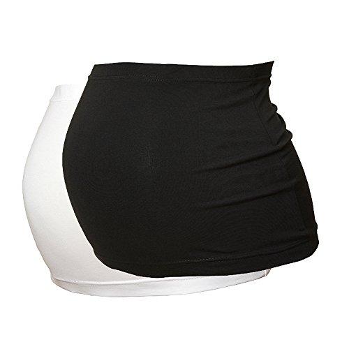Maternity Belly Band - Black & White Set - British Made - Size 26