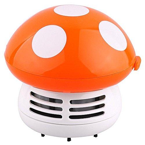 Baoblaze 1 Stk. Pilz geformt 3V Mini Roboterstaubsauger, Tastatur und Möbel Reinigungs Zubehör für Büro - Farbe Wahl - Orange