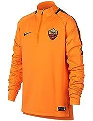 d97ade97ed6e6 2017-2018 AS Roma Nike Training Drill Top (Vivid Orange)