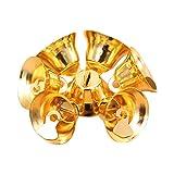 BHYDRY 10 Piezas de Oro/Plata Jingle Mini Bells árbol de Navidad decoración Colgante Craft(10PC,Oro)