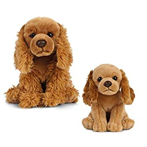 Living Nature Nature-AN493 Peluche para Perro y Cachorro, Color Honey, Paquete (Keycraft AN493