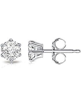 Billie Bijoux Damen-Ohrstecker Echt 925 Sterling Silber Ohrringe mit Zirkonia Diamant Strassstein, Frauen Schmuck