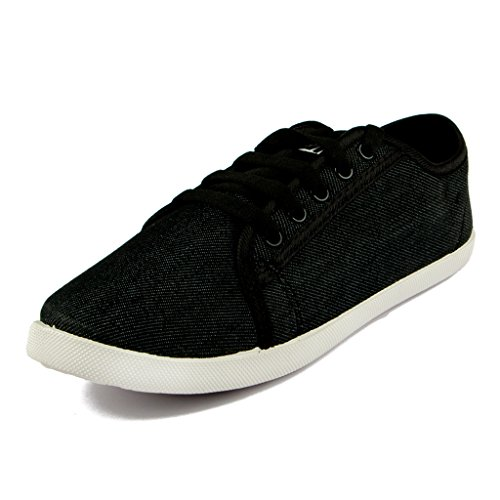 Asian shoes LR-13 Black Canvas Ladies Shoes