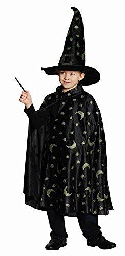 Kinder Kostüm Zauberer Umhang Karneval Fasching Halloween (Kinder Kostüm Zauberer)