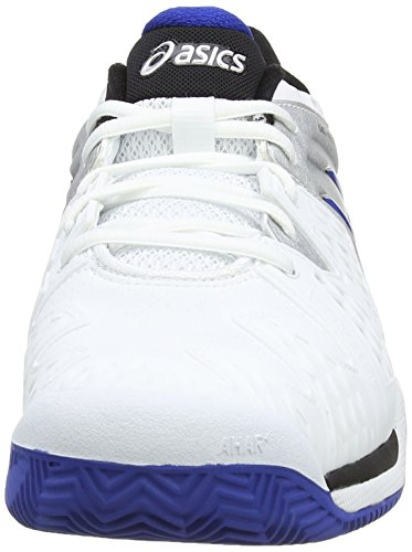 ASICS Gel-Resolution 6 Clay, Tennis Hommes Blanc (White/Blue/Silver 142)