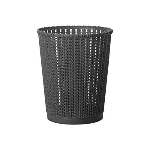 Mesh Kunststoff Papierkörbe, Rattan Kleine Office Mülltonne Ohne Deckel Für Badezimmer Vanity Countertop Tabletop Desktop Papierkörbe-schwarz 20.5x24.8cm