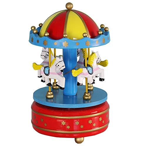 YUJIE Drehen Sie Spieluhr,Karussell Ball Miniatur Puppenhaus Spielzeug Mit Schloss Im Himmel Tune Perfekt Für Weihnachten Geschenk Geburtstag Geschenk Valentinstag,B -