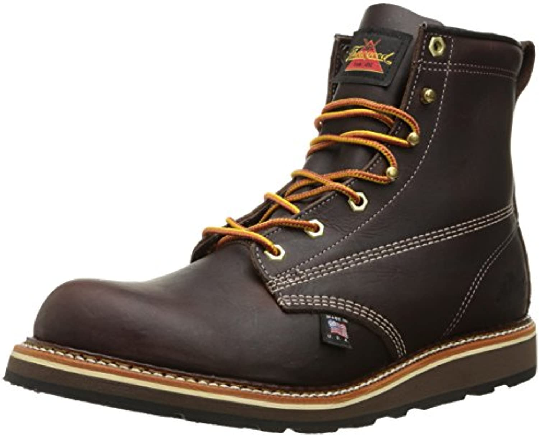 Thorogood Mens 6'' Plain Toe Wedge 814-4516 Leather Boots