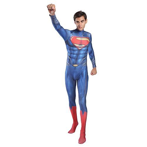 DSFGHE 3D Gedruckt Superman Kostüm Rollenspiel Strumpfhosen Erwachsene Halloween Kostüm Party Movie Requisiten Party - Superman Kostüm Halloween