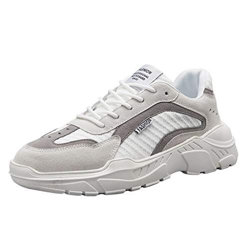 TWISFER Herren Sportschuhe Leichte Laufschuhe Atmungsaktiv Gym Schuhe Turnschuhe Trainer Outdoor Running Sneaker Shoes Schnürschuhe Mode Freizeitschuhe Für Männer Marine Mode Trainer