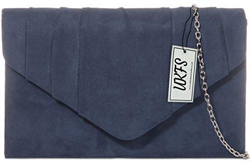 Designer Handtasche Handtasche Samt Damen Abend Umschlag Herbst Marine UKFS Z4wzvqW
