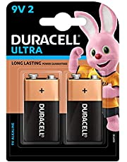 Duracell Ultra Alkaline 9V Batteries (Pack of 2)