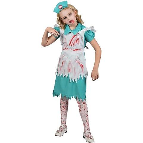 Disfraz Los niños : Enfermera de Halloween del zombi. Talla L - 8-10 años