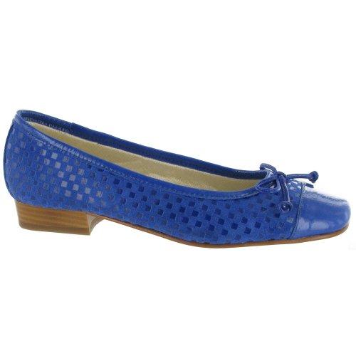 Riva Andros Wildleder Ballerina / Damen Schuhe Marineblau