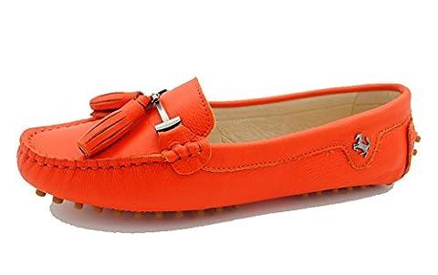 Miyoopark , Ballet femme - Orange - Smooth Leather-Orange, 38.5