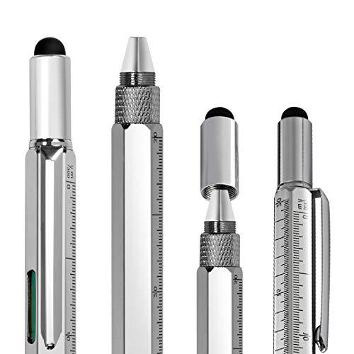 Peso: 50 g. El lápiz óptico 6 en 1 tiene una punta omnidireccional que lo hace capaz de moverse sobre la pantalla suavemente en cualquier dirección. Esto permite hacer movimientos precisos, dibujos y detalles de precisión. No sólo cuenta con una punt...