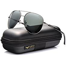 f8f56f5b4c659 LUENX Mens Womens Aviator Sunglasses Polarized with Case LUENX Mens Womens  Aviator Sunglasses Polarized with Case - UV 400 Protection Colors 60mm