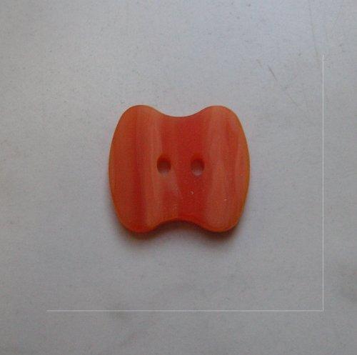 Knopf orange meliert 20 x 20mm (Orange Nähmaschine Schere)