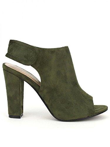 Cendriyon, Sandale Kaki SANDRA MODA Chaussures Femme Kaki