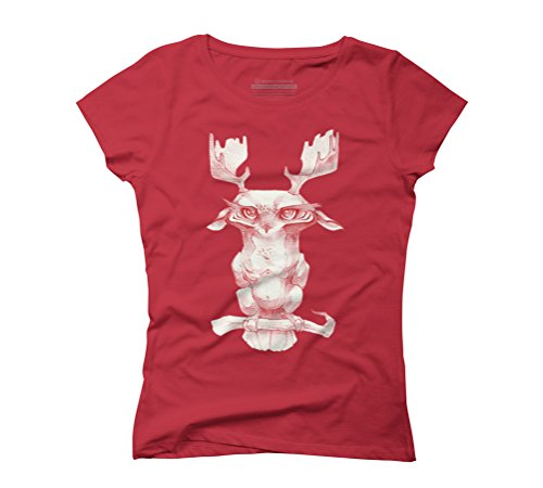 Owl-moose hybrid Women's Graphic T-Shirt - Design By Humans Red