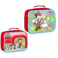 Walt Disney Minnie Mouse (101400) Kinder Pausen-Set, Picknick Set, Pausentasche, Pausenbox, Brotbox und Trinkflasche, 3-teilig preisvergleich bei kinderzimmerdekopreise.eu