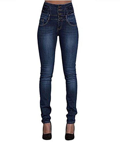 LAEMILIA Damen Jeans mit hoher Taille Stretch Dünn Skinny Hose