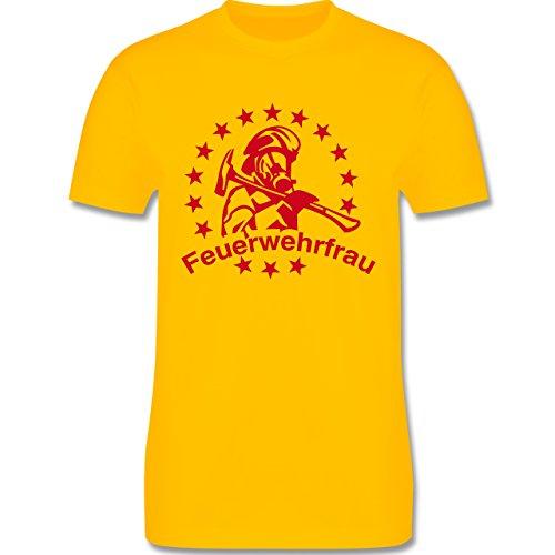 Feuerwehr - Feuerwehrfrau - Herren Premium T-Shirt Gelb