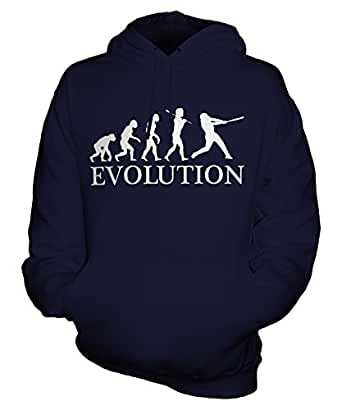 Baseball Evolution of Man - Unisex Hoodie - Mens/Womens/Ladies, Size X-Small, Colour Blueberry Bean