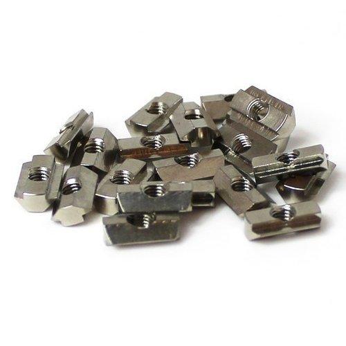 Nutenstein M3 für 10x10 Makerbeam Profile. 25 Stk. (inkl. Schrauben für Platten und Eckwürfel!)