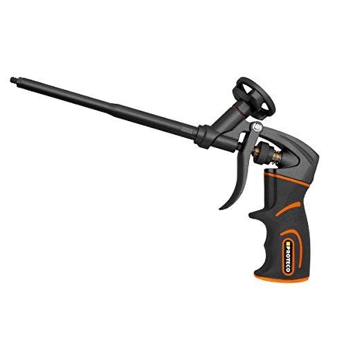 Proteco-Werkzeug® PU-Schaumpistole Teflon beschichtet Profi-Qualität Montagepistole Einhandbedienung Softgrip