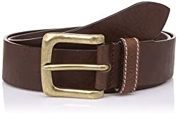Lino Perros Mens Leather Belt (8903421300365_LMBE00291_Free Size_Brown)