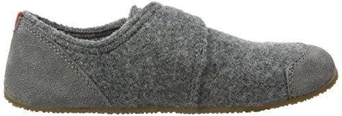 Living Kitzbühel Slipper Velcro, Chaussons garçon Gris - Grey (Grau 610)
