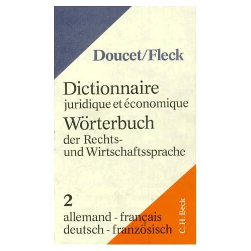 Dictionnaires juridiques et économique Allemand-Français, 5e édition