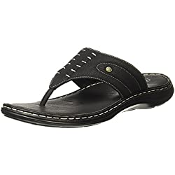 BATA Men's Terrance Cushion Black Hawaii Thong Sandals - 7 UK/India (41 EU)(8716243)