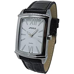 POOLS Women's Quartz Watch Analogue Display and Leather Strap 1237