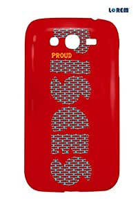 Lorem Back Cover For Samsung Galaxy Grand (i9082)-Red-L25555