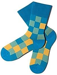 Bunte Socken - Muster: Pixelate - Poolside - GOTS zertifiziert - aus feinster Bio Baumwolle - Komfortbündchen