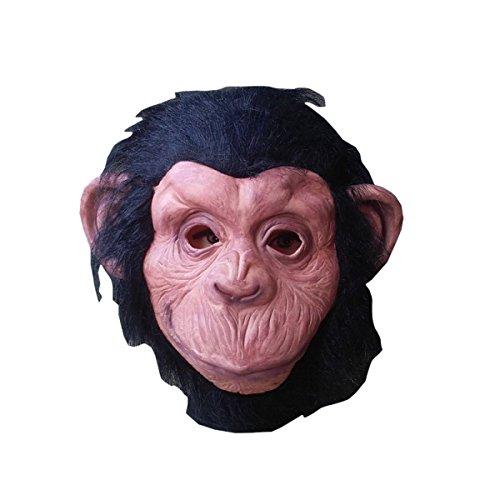 nzen Welt Cs Orang-Utans Hoods Deng Chao Monkeys Masken Tiere Verkauf Sprouts Horror Halloween Dekorationen - Schwarz,A (Halloween-dekoration Verkauf)
