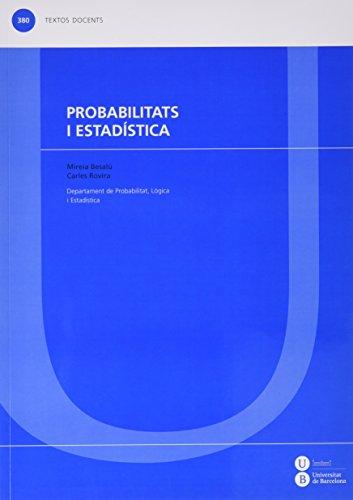 Probabilitats i estadística (TEXTOS DOCENTS)