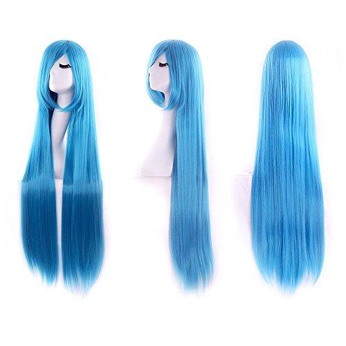 auen Cosplay lange gerade Perücke Halloween Kostüm Perücken (blau) (Cosplay Shop)