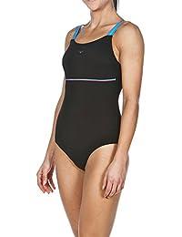 Arena Mujer Body Lift Ingrid–Bañador, mujer, Bodylift Badeanzug Ingrid, Black/Turquoise/Calypso, 50 [DE 48]