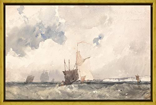 Berkin Arts Rahmen Richard Parkes Bonington Giclée Leinwand Prints Gemälde Poster Reproduktion(Schiffe in Einem abgehackten Meer)