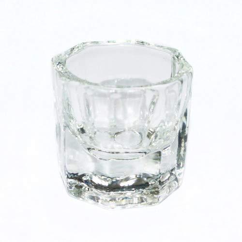 Nagelpflege & Nagellack achteckig Form Glas Cup Dapper Behälter für Acryl-Nägel Nagelkunst Liquid Powder Nail Art (Paint Nail Art Acryl)