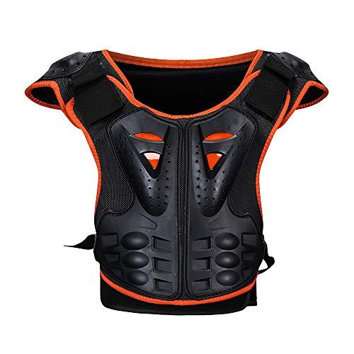 NBKLS Kinder Skating Ski Brust Rücken Grat Schutzweste, Drop Gear Motorrad Schutzweste Motorrad Off-Road-Rennen Schutzkleidung Rüstung,S