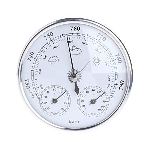 FIREUO 3 en 1 Tipo de Dial Barómetro Higrómetro Estación Meteorológica Presión Barométrica Temperatura...