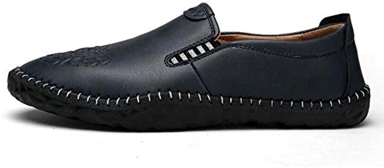 Onfly Pumpe Loafer Schlüpfen Beiläufig Leder Schuhe Pedal Schuhe Männer Mode Pure Farbe Anti Rutsch weisshe Sohle