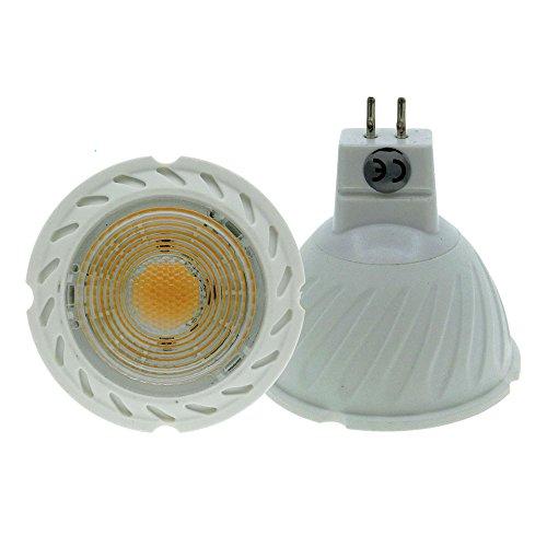 Light Base 2-pin (ELEDISON 2-Pack LED GU5.3 Leuchtmittel 5 W 12 V AC DC, 90 Grad und Abstrahlwinkel Grad, Standard Größe 50 x 50 mm, entspricht 50 W Halogenlampe, Warmweiß 2700K)