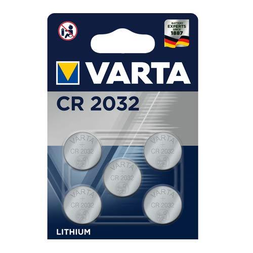 Oferta de Pila de botón de litio de 3 V VARTA Electronics CR2032, pilas de botón en un blíster original de 5 unidades